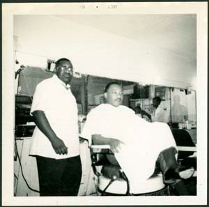 Martin Luther King Jr. and Barber, circa 1960