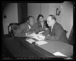"""Comedian Eddie """"Rochester"""" Anderson with Los Angeles Juvenile Commissioner Stanley Sutton, 1941"""