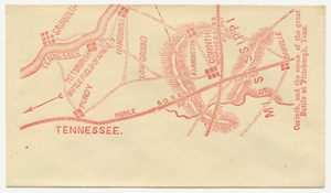 Corinth, and the scene of the great Battle at Pittsburgh, Tenn. [graphic]