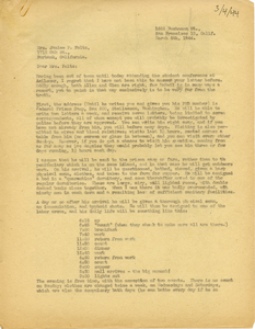 Letter from Caleb Foote to Janice P. Foltz
