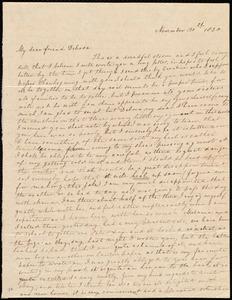 Letter from Sylvia Ann Ammidon, [Boston?, Mass.], to Deborah Weston, November 30th, 1830