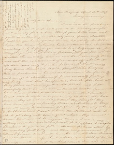 Letter from Deborah Weston, New Bedford, [Mass.], to Anne Warren Weston, April 26th, 1839, Friday morning