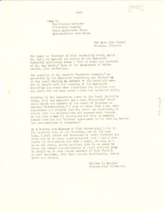Letter from Interdenominational Ministerial Alliance to Chicago Defender, Pittsburgh Courier, Negro Associated Press, and Afro-American Newspaper