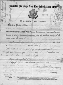 Honorable Discharge from the US Army