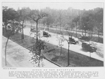Scene on the boulevard; A view of Grand Boulevard from 35th Street, looking southwest