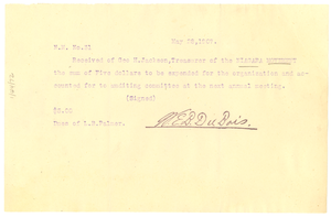 Niagara Movement Receipt No. 31