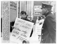 Civil Rights picket, U.S. Courthouse, Hartford, March 9, 1965