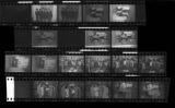 Set of negatives by Clinton Wright including Sunset Mortuary & employees, Kappas at Mrs. Pughley's, debutante group pictures at Mrs. Bennett's, Yolanda Arlington's baby Christening, Cosmo bar, and debutantes at Sight & Sound, 1969