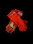 Auto racing gloves worn by Indy car driver John Mahler during the 1979-1980 season