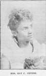 Mrs. May C. Heyers nee Reynolds. Actress, Singer, Musician, Writer of Operas
