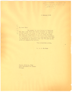 Letter from W. E. B. Du Bois to Fraternal Council of Negro Churches in America