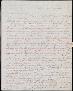 Letter from Evelina A. S. Smith, Dorchester, [Mass.], to Caroline Weston, Feb. 15, 1846
