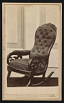 [The chair in which Abraham Lincoln was assassinated at Ford's Theatre, Washington, D.C.]
