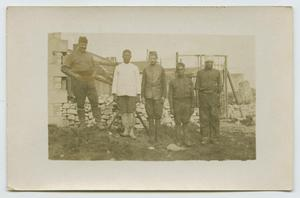 Photograph of Five Men at Construction Site