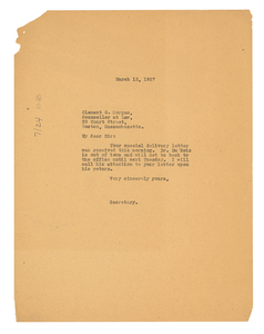 Letter from Crisis to Clement G. Morgan