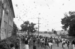 Children and balloons, Los Angeles, 1983