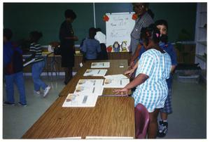 Gates Elementary Students in Class with Adults San Antonio Chapter of Links Records
