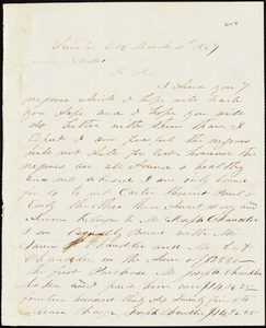 A. J. McElveen, Sumter Court House, S.C., autograph letter signed to Ziba B. Oakes, 4 March 1857
