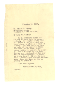 Letter from W. E. B. Du Bois to Edward C. Mickey