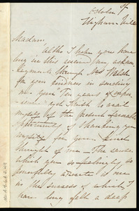 Letter from Sarah Cogan, Higham Hill, [Walthamstow, Essex, England], to Maria Weston Chapman, October 1st