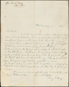 Letter from Mary Ide Torrey, West Medway, [Massachusetts], to Amos Augustus Phelps, 1845 Jan[uary]