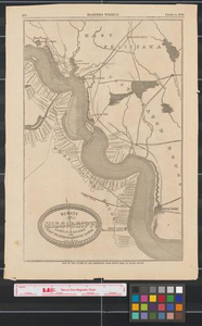 Survey of Mississippi fortifications from Port Hudson to Bayou Sara : Feb. 10th 1863. Map of the course of the Mississippi from Bayou Sara to Baton Rouge. Night scout in the southwest - surprise of an outpost, and survey of the rebel guns.