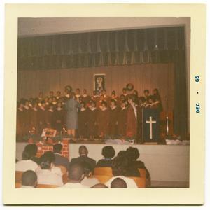 Edgewood Choir at Christmas Assembly