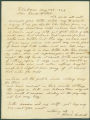 Letter from Pleasant Bullard in Claiborne, Alabama, to James Dellet in Washington, D.C.