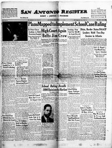 San Antonio Register (San Antonio, Tex.), Vol. 24, No. 16, Ed. 1 Friday, May 28, 1954 San Antonio Register