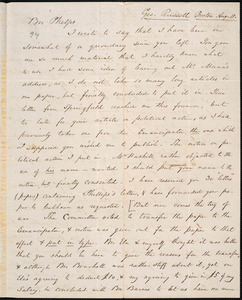 Letter from George Russell, Boston, to Amos Augustus Phelps, Aug. 11. [1840]