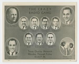Flyer for the Crazy Radio Gang