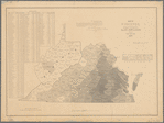 Map of Virginia showing the distribution of its slave population from the census of 1860