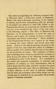 Address to Christians of all denominations, on the inconsistency of admitting slave-holders to communion and church membership