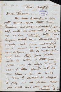 Letter from James Miller M'Kim, Phila[delphia, Pa.], to William Lloyd Garrison, Oct[ober] 5 / [18]50