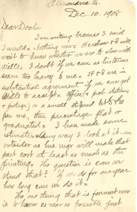 Letter from F. H. M. Murray to W. E. B. Du Bois