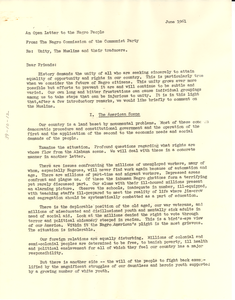 Open letter from Negro Commission of the Communist Party to W. E. B. Du Bois
