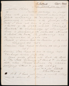 Letter from Nathaniel Southard, New York, to Amos Augustus Phelps, Jan 24. 1839