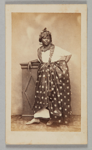 Photograph of unidentified woman wearing French Antillean dress