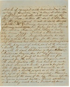 Seward Papers Bill of Sale for Slaves