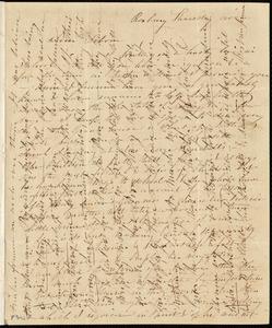 Letter from Caroline Weston, Roxbury, [Mass.], to Deborah Weston, Thursday noon, [June 1841?]