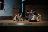 """Production photograph, scene from """"Seven Little Rebels"""" performed at Pioneer Memorial Theatre, University of Utah, 1963 [61]"""