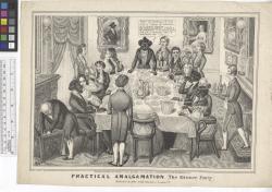 Practical amalgamation (the dinner party) / EWC [signed on stone].
