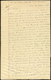 Copy of letter to] Madam [manuscript