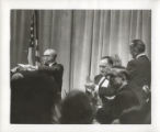 Speaker at a Democratic Party banquet