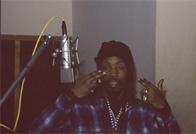 DJ Power recording a commercial for Funkmaster Flex, D&D Studios
