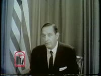 WSB-TV newsfilm clip of governor Orval Faubus claiming that Arkansas is a territory occupied by the United States in Little Rock, Arkansas, 1957 September 26