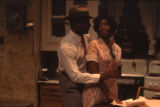 Actor and actress in a scene from the play A raisin in the sun