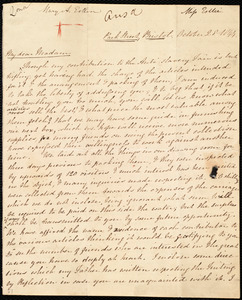 Letter from Mary Anne Estlin, Park Street, Bristol, [England], to Maria Weston Chapman, October 28, 1844