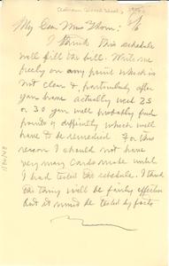 Letter from W. E. B. Du Bois to Calhoun Colored School