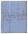 Letter by John Montmollin, Savannah, Georgia, to Ziba Oakes